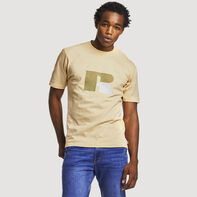 Men's Heritage Heavyweight Flock T-Shirt ALMOND