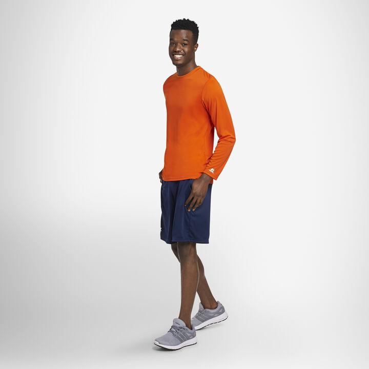 Men's Dri-Power® Performance Long Sleeve T-Shirt BURNT ORANGE