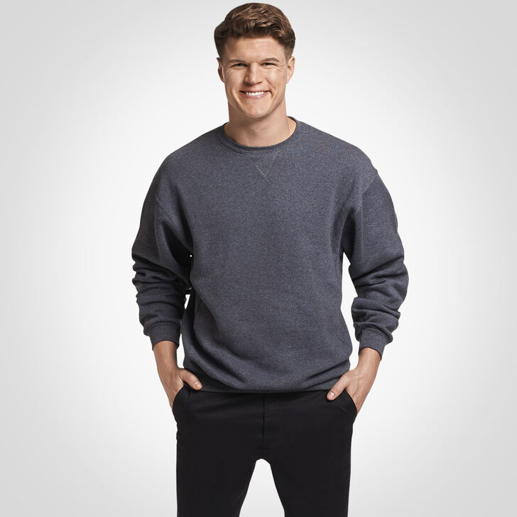 Men's Dri-Power® Fleece Crew Sweatshirt BLACK HEATHER