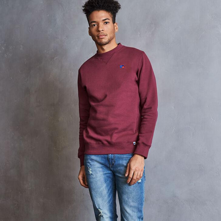 Men's Heritage Fleece Crew Sweatshirt BURGUNDY