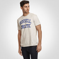 Men's Heritage Arch Graphic T-Shirt BLEACHED MARL