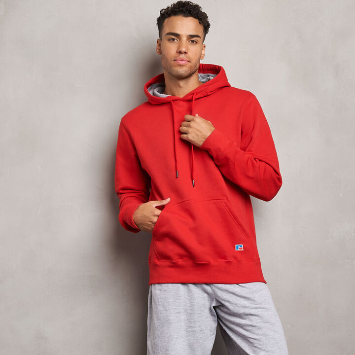 Men's Cotton Classic Fleece Hoodie TRUE RED