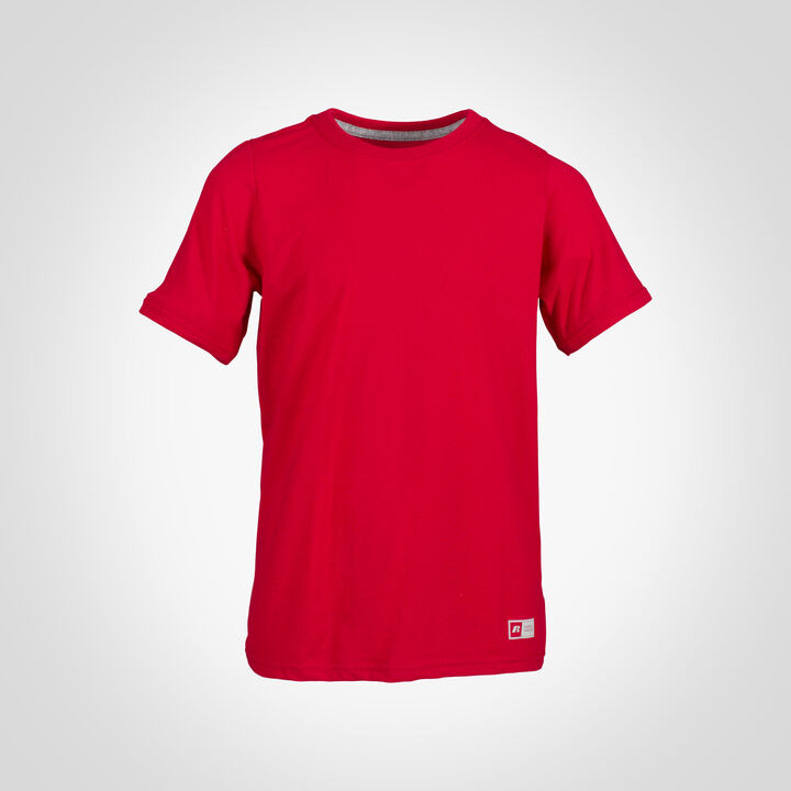 Youth Cotton Performance T-Shirt TRUE RED