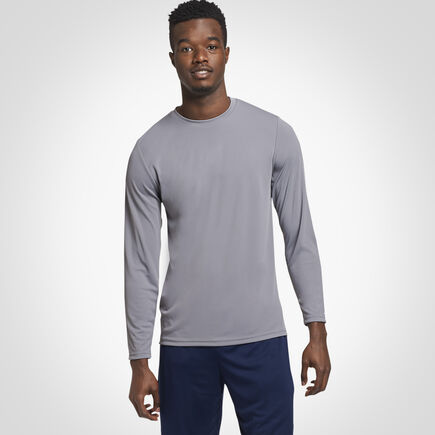 Men's Dri-Power® Performance Long Sleeve T-Shirt STEEL