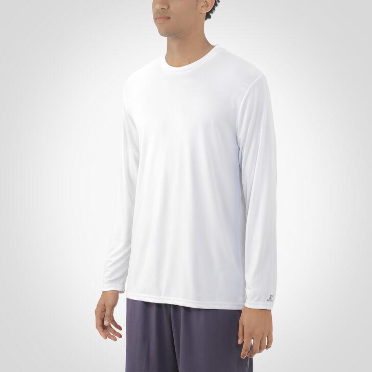 Men's Dri-Power® Core Performance Long Sleeve Tee WHITE