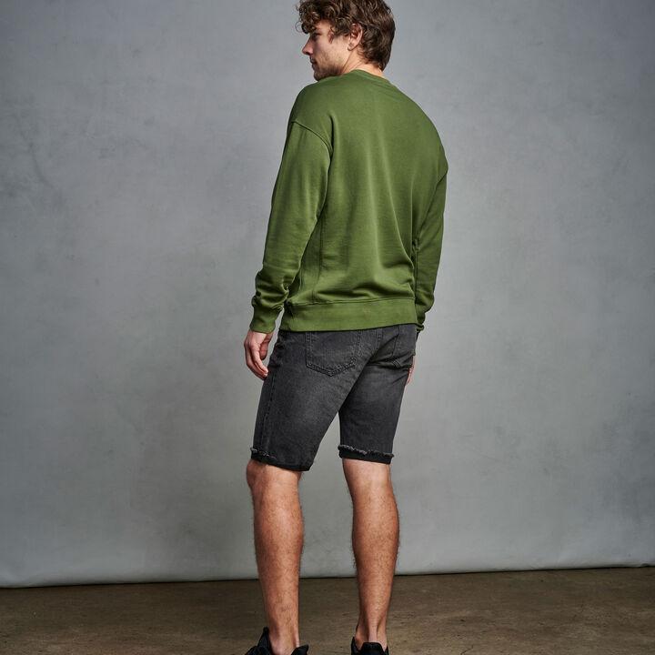 Men's Heritage Garment Dyed French Terry Sweatshirt CYPRESS