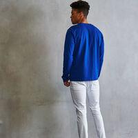 Men's Heritage Playing Fields Graphic Long Sleeve T-Shirt MAZARINE BLUE