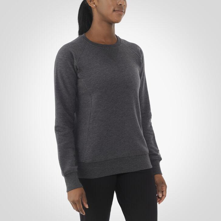 Women's Fleece Crew Sweatshirt BLACK HEATHER