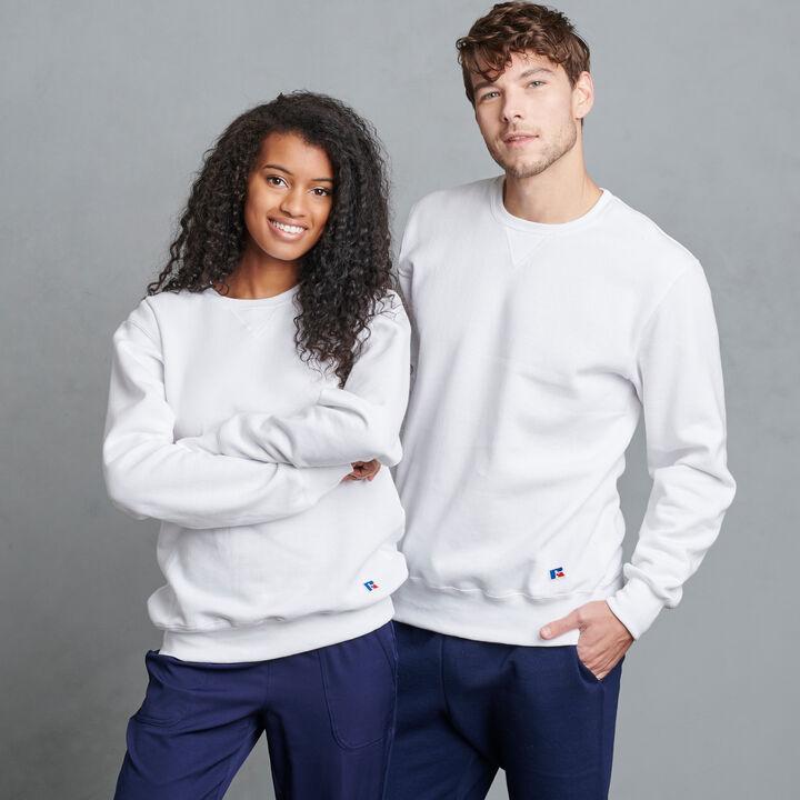 Men's Cotton Rich 2.0 Premium Fleece Sweatshirt WHITE