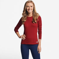 Women's Cotton Performance Long Sleeve Tee CARDINAL