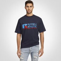 Men's Heritage Distressed Graphic T-Shirt NAVY