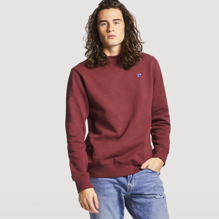 Men's Frank Crew Sweatshirt BURGUNDY