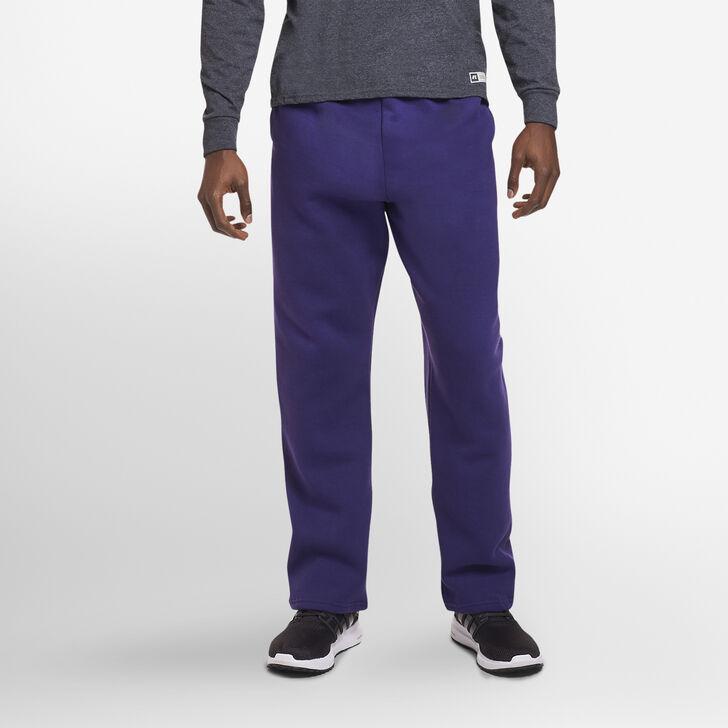 Men's Dri-Power® Open-Bottom Sweatpants with Pockets PURPLE