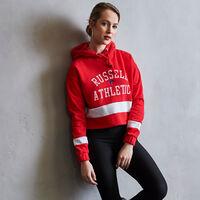 Women's Heritage Cropped Athletic Fleece Hoodie TRUE RED