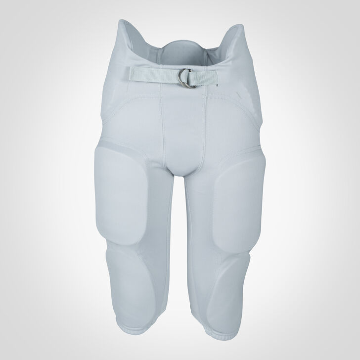 Youth Integrated 7-Piece-Pad Football Pants GRIDIRON SILVER