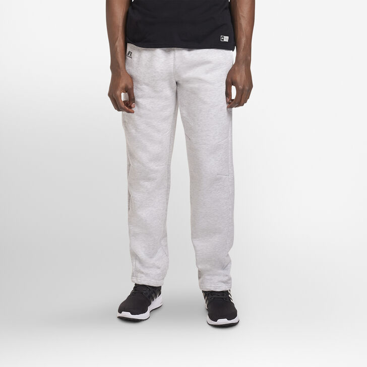 Men's Cotton Rich Open-Bottom Sweatpants with Pockets ASH