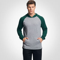 Men's Cotton Performance Lightweight Hoodie OXFORD/DARK GREEN