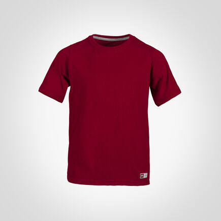 Youth Cotton Performance Tee CARDINAL