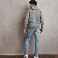 Men's Heritage Fleece Hoodie Grey Marl
