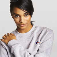 Women's Heritage Oversized Fleece Crew Sweatshirt OXFORD