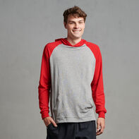 Men's Cotton Performance Lightweight Hoodie Oxford/True Red
