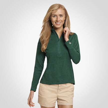 Women's Dri-Power® Lightweight Performance 1/4 Zip DARK GREEN