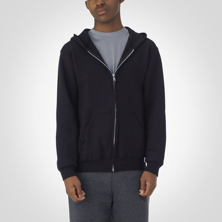 Youth Dri-Power® Fleece Full-Zip Hoodie BLACK
