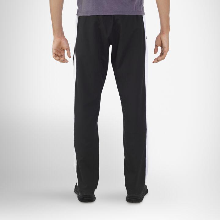 Men's Woven Warm Up Pants BLACK/WHITE