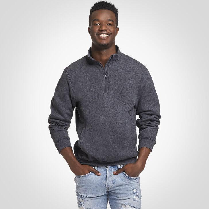 Men's Dri-Power® Fleece 1/4 Zip Pullover BLACK HEATHER