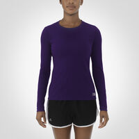 Women's Essential Long Sleeve Tee PURPLE