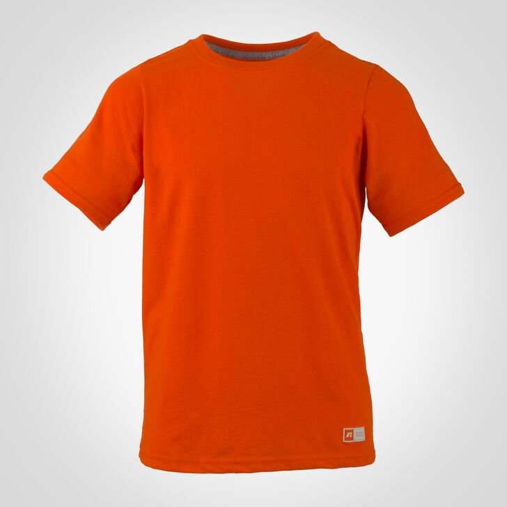Youth Cotton Performance Tee BURNT ORANGE