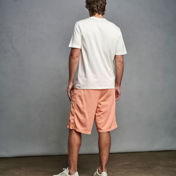 Men's Heritage Garment Dyed French Terry Fleece Shorts CORAL PINK