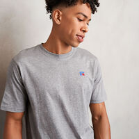Men's Heritage Baseliner T-Shirt Grey Marl