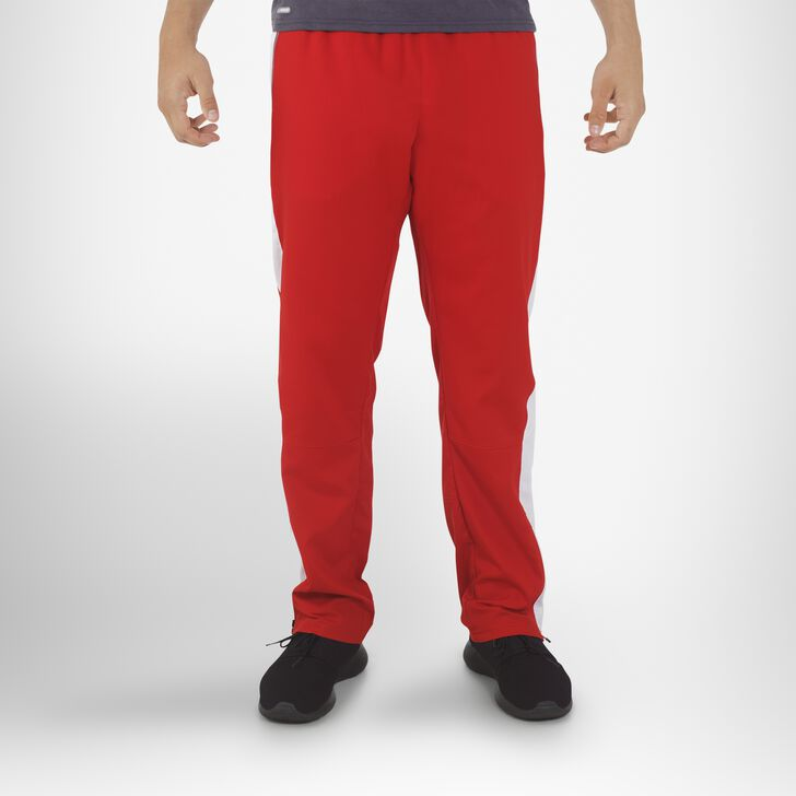Men's Woven Warm Up Pants TRUE RED/WHITE