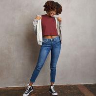Women's Heritage Cropped Baseliner T-Shirt Burgundy