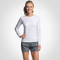Women's Cotton Performance Long Sleeve T-Shirt WHITE