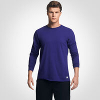 Men's Cotton Performance Long Sleeve Tee PURPLE