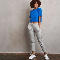 Women's Heritage Cropped Baseliner T-Shirt Classic Blue