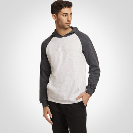 Men's Essential Lightweight Hoodie ASH/BLACK HEATHER