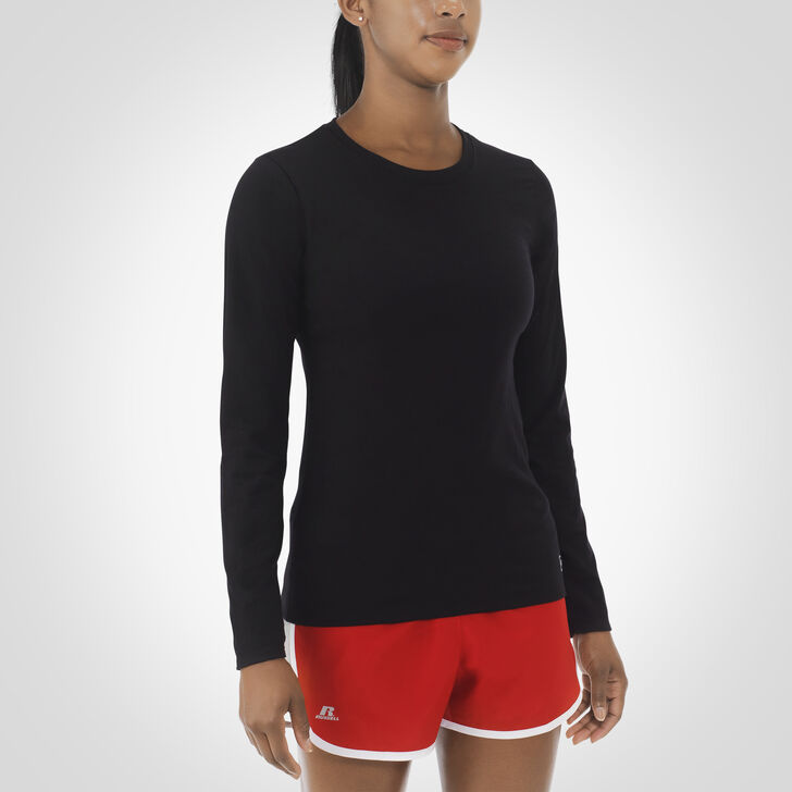 Women's Essential Long Sleeve Tee BLACK