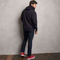 Men's Cotton Classic Fleece Hoodie BLACK