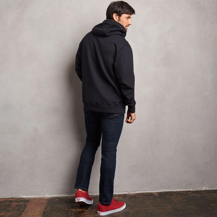 Men's Cotton Classic Fleece Hoodie BLACK