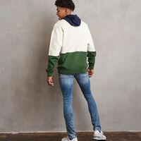 Men's Heritage Drop Shoulder Color Block Fleece Hoodie SOYA