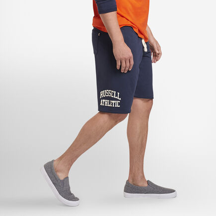 Russell Athletic Iconic Arch French Terry Cut Off Shorts NAVY