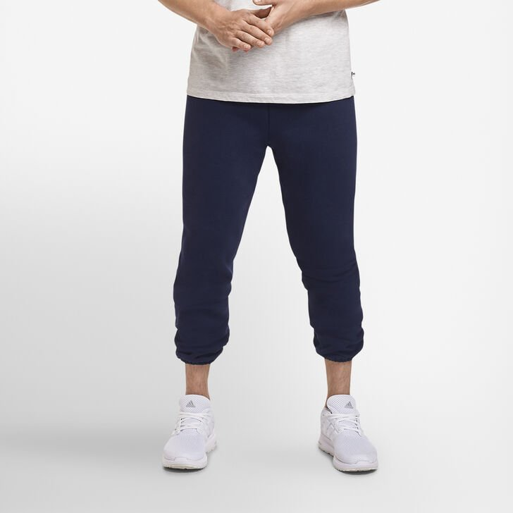 Men's Dri-Power® Closed-Bottom Sweatpants (No Pockets) Navy