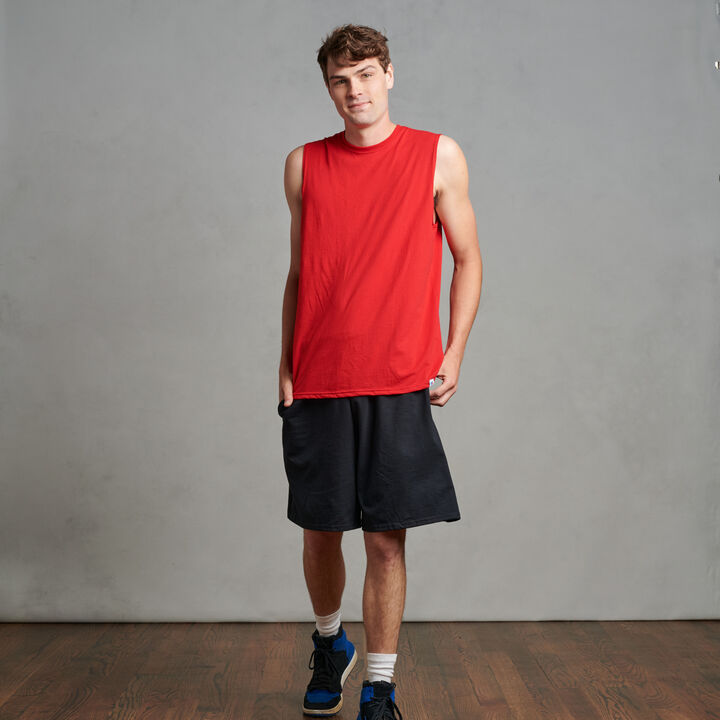 Men's Cotton Performance Muscle True Red