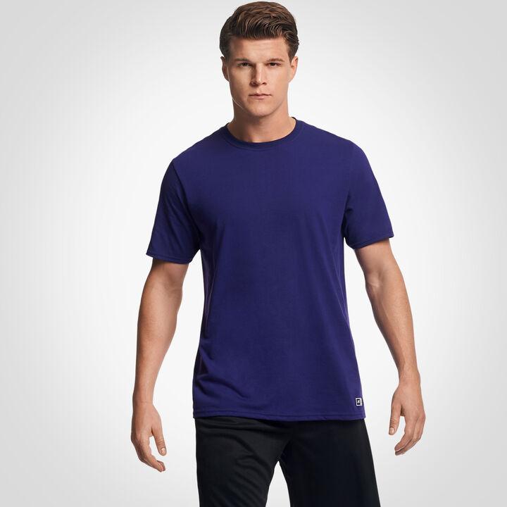 Men's Cotton Performance T-Shirt Purple
