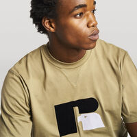 Men's Heritage Heavyweight Flock T-Shirt DRY GRASS