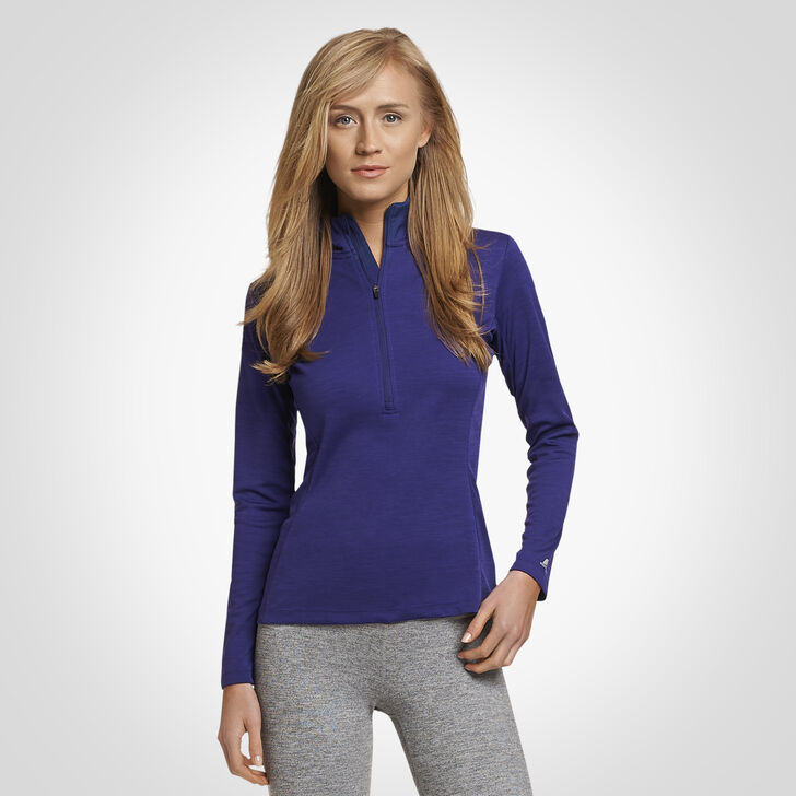 Women's Dri-Power® Lightweight Performance 1/4 Zip PURPLE