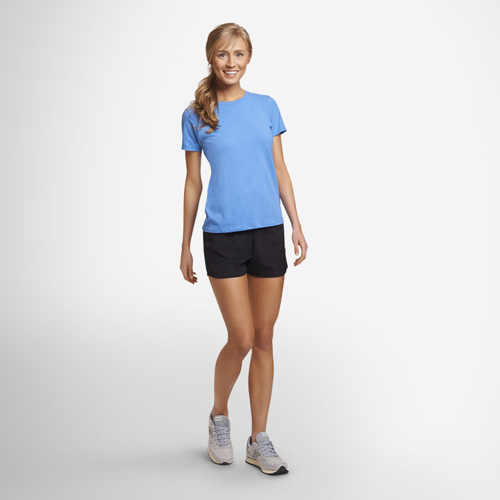 Women's Cotton Performance Active Shorts (No Pockets) BLACK